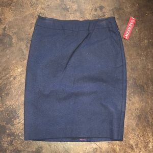 Merona Size 6 Brand New With Tag Navy Blue Skirt